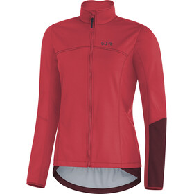 GORE WEAR C5 Windstopper Thermo Jacket Women hibiscus pink/chestnut red